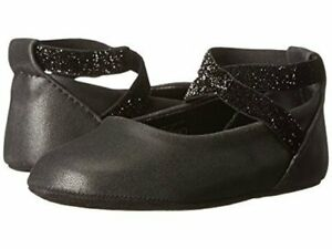 NIB Kenneth Cole Reaction NY Baby Black Ballet Dress Shoes Flats 6-9 months 3