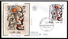 FRANCE FDC - 2067 1 TABLEAU DALI 1979 sur soie