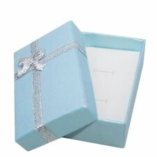 2x Blue Jewellery Gift Boxes Necklace Bracelet Bangle Earring Set 8x5x2.5cm