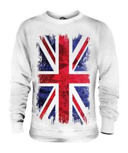 UNION JACK GRUNGE FLAG UNISEX SWEATER TOP UK GB GREAT BRITAIN UNITED KINGDOM
