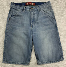 Levi's Shorts Red Tab Boys Size 12 Blue Jean Denim 7 Pockets