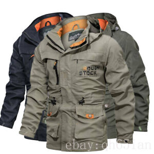 Men's Winter Waterproof Military Jacket Hooded Breathable Coat Tactical M-XL