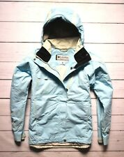 COLUMBIA titane imperméable veste femme manteau randonnée marche bleu large 14 uk