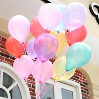 "10"" Helium LATEX Quality Baloons WEDDING Ballons 16 COLOURS BALLOONS CURL RIBBON"