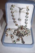 White Cloisonne Rosary.  Hand made in Italy.  Produced by Ave Maria