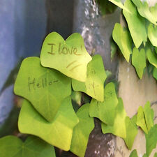 Cute Simulation Green Leaf Sticky Note Memo Pad Sticker Post It Desk Office