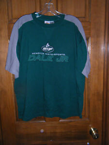 NASCAR Winners Circle Hendrick Motorsports Dale Jr Green & Gray T-Shirt - Size L
