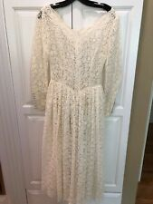 Vintage Antique Ivory Lace Wedding Gown