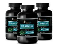 Klamath BLUE GREEN ALGAE Powder - Spirulina Chlorella 500mg - 3 B, 180 Capsules