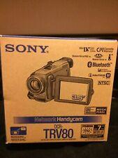 Sony Handycam Dcr-Trv80 Mini Dv Camcorder Bnib w/ extra accessories *see below*