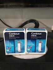 Contour Next Test Strips 2 Boxes (100ct) New Exp. 2/28/21 contour 7309