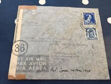 Belgium letter from Antwerp to London opened by censor 14.5.1945