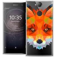 "Coque Housse Etui Pour Sony Xperia XA2 (5.2"") Polygon Animal Souple Fin Renard"