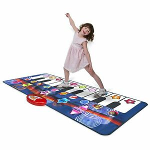 Kidzlane Durable Piano Mat, 10 Selectable Sounds, Play and Record, For Kids 3+