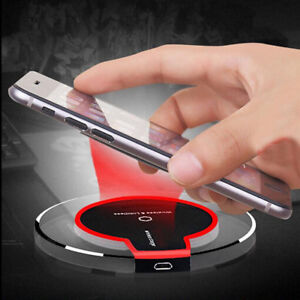Clear Universal Qi Fast Charging Wireless Charger Pad Mat Wi USB Charging Cable
