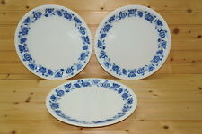 "Arzberg Germany Blue Onion (3) Dinner Plates, 9 3/4"""