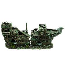 Galleon Ship Wreck Fish Tank Aquarium Boat Ornament Shipwreck Decoration MS917