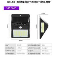 Solar Power Motion Sensor Garden Outdoor Floodlight Light Security PIR LED Q7G9