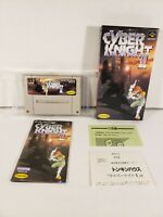 Cyber Knight II Nintendo Super Famicom SNES Japan Import Complete in Box CIB