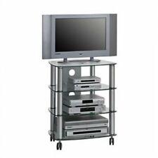 Maja 1611 Alu TV und HiFi-Rack Klarglas 600mm Breite