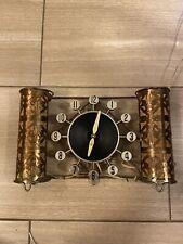 Mid Century Modern Herold  Spartus  Atomic Electric Wall Clock 517 360