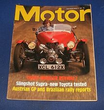 MOTOR MAGAZINE AUGUST 21ST 1982 - SLINGSHOT SUPRA - NEW TOYOTA TESTED