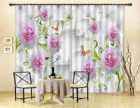 Well-Stacked Flowers 3D Curtain Blockout Photo Printing Curtains Drape Fabric