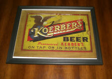Koerber'S Beer Framed Color Ad Print - On Tap Or In Bottles