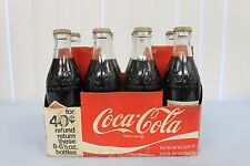 8 PACK Coke Coca Cola Pembroke Plant 1976 Straight Glass Bottles Full Unopened