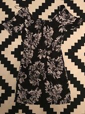 Papaya Floral Print Dress Smock Grunge Tie Back Neck Smart Casual Office BNWT