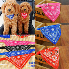 4 Colours Dog Cats Collar Adjustable With Neck Scarf Bandana Pet Accessories