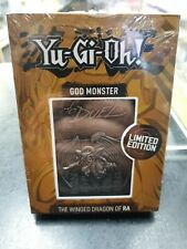 YuGiOh God Monster Metal Card - The Winged Dragon of Ra Limited Edition Official