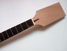 24 fret unfinished electric guitar neck mahogany made & rose wood fingerboard