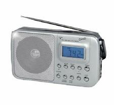 SuperSonic AM FM Shortwave Radio Alarm Clock Speaker AC or DC Battery Operated