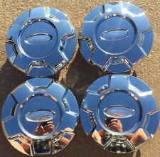 """2009-2014 Ford OEM F-150 17"""" Chrome Center Caps 9L34-1A096-AC Set Of 4 #3 Faded"""