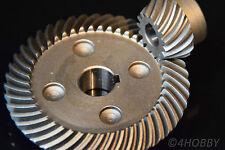 Tellerrad + Ritzel 44-15 Zahnrad Getriebe 15+10mm Antrieb Zahnräder Stahl 90°