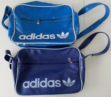 COOL: 2 ADIDAS OLD SCHOOL VINTAGTaschen Sporttaschen Umhängetaschen! Blau + Lila