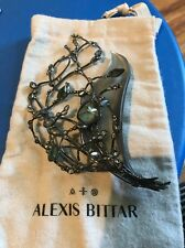 NWOT Alexis Bittar Imperial Noir Crystal Lace Bouquet Pin Brooch