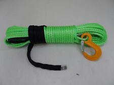 free ship 8mm*30m synthetic winch rope cable,winch line for offroad,uhmwpe rope
