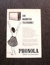 M122- Advertising Pubblicità -1960- PHONOLA MAGNIFICO TELEVISORE ALL'AVANGUARDIA