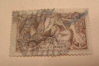 SCOTT#173 GREAT BRITAIN 1913 1/2 CROWN  USED