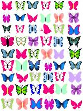 X54 MIXED PINK BUTTERFLY WEDDING BIRTHDAY CUP CAKE TOPPERS ON EDIBLE RICE PAPER