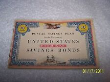 WWII US Defense Savings Bonds Postal $5 Album Rufus L. Vaster Jr. Coffeeville KS