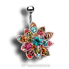 PIERCING NOMBRIL CRYSTAL STRASS STYLE ZIRCON COULEUR