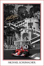 * MICHAEL SCHUMACHER * Large signed autograph poster of Formula 1 world champ!