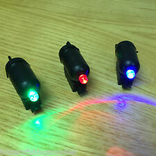 Set of 3 Sea Carp Coarse Night Fishing hi vis rod tip lights Green Red and Blue
