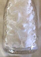 BELLOWS FALLS CREAMERY (1/2) half pint milk bottle Bellows Falls, VT / Vermont