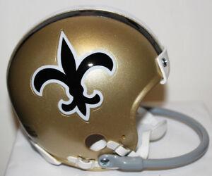 1967 New Orleans Saints Riddell Custom 1 Bar Mini Helmet Billy Kilmer