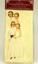 Shackman Paper Dolls~1995~ Colonial Family 19 Pieces by Betty Campbell