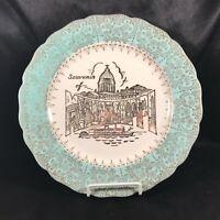 Vintage Warranted Gold Mississippi Souvenir Plate